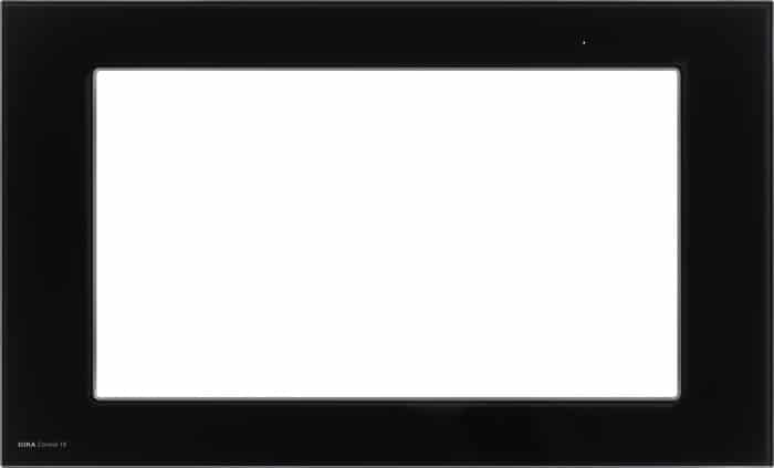 designrahmen glas schwarz f r gira control 19 gira 206505. Black Bedroom Furniture Sets. Home Design Ideas