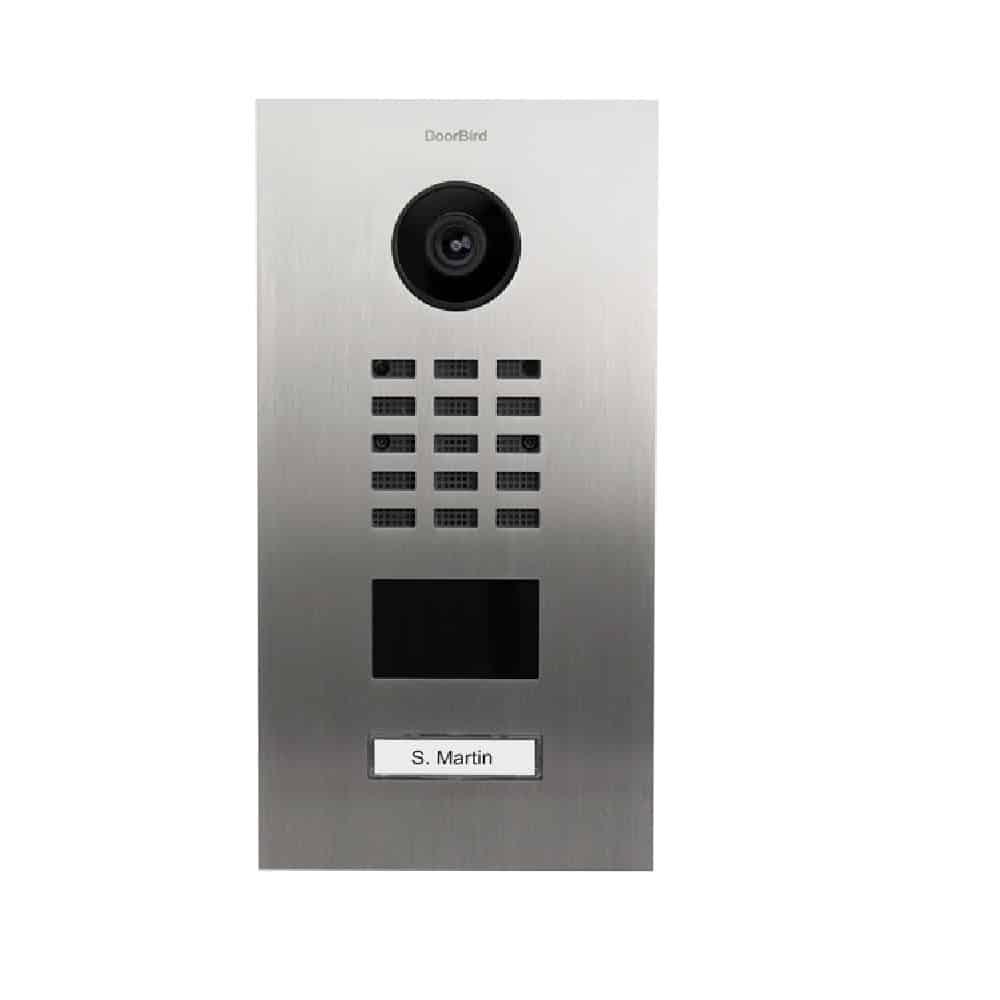 IP Video Türstation D2101V, mit 1 Ruftaste und RFID Leser