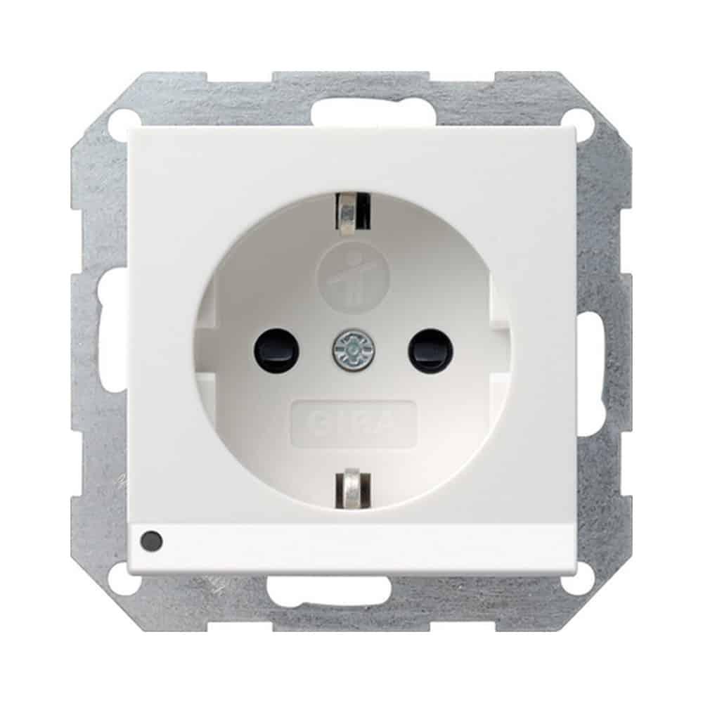 SCHUKO Steckdose LED Leuchte + SH System 55 Reinweiß GIRA 117003