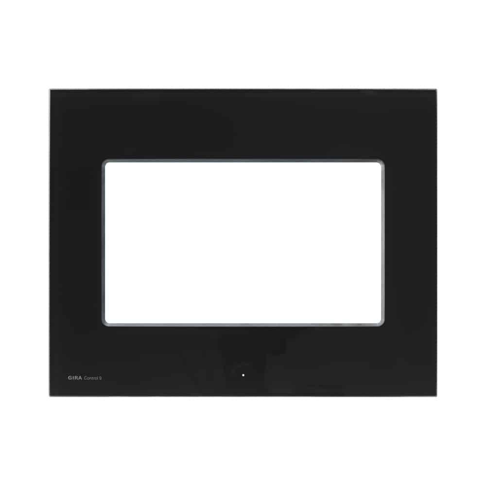 Designrahmen für Control 9 Client 2, Glas Schwarz GIRA: 205705
