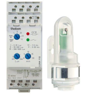 Theben Dämmerungsschalter LUNA 128 IP55 weiß Dämmerungsschalter 1280700